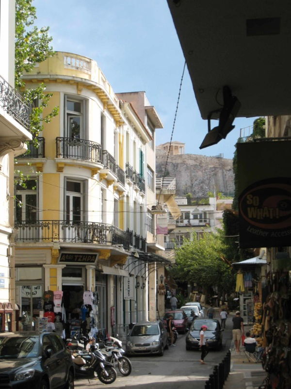 Up Kapnikaréa steet toward the Acropolis