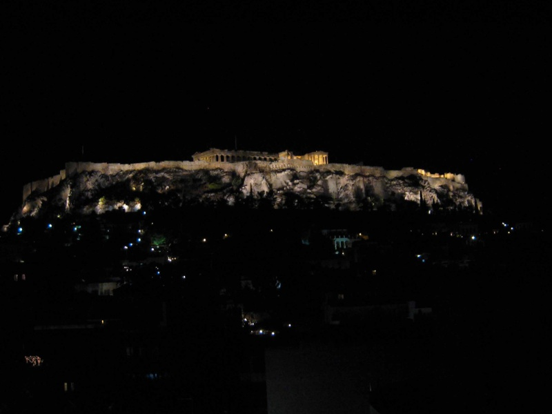 The Acropolis through our window