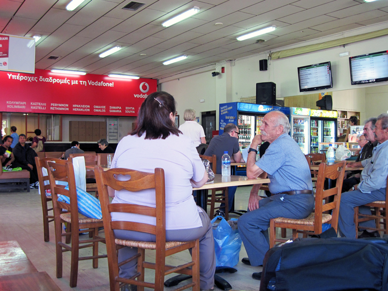 In the Chaniá bus station