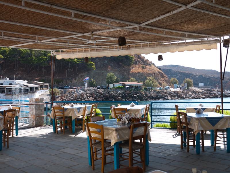 Waterfront restaurant view