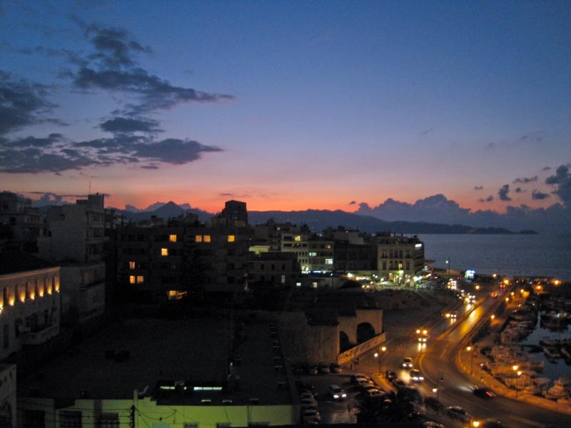 Balcony view—evening