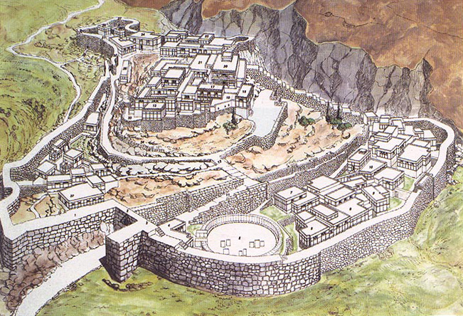 Artist's reconstruction of Mycenae