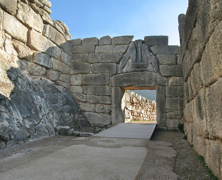 The Lions Gate and Cyclopean walls at Mycenae