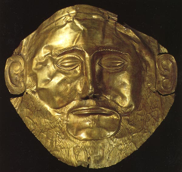 Death mask from a tomb in Mycenae ('Agamemnon')