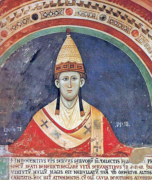 Innocent III, or a MS illuminator's idea of him