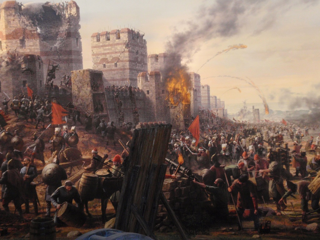 Turks taking Constantinople, 1453