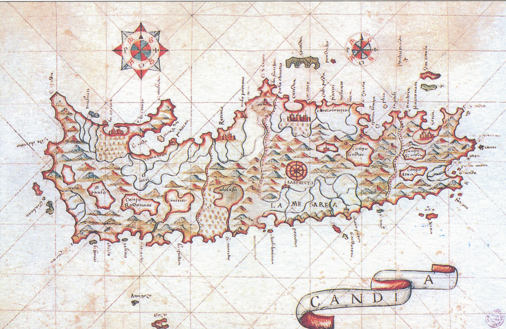 Venetian map of Crete (15th–16th century?)