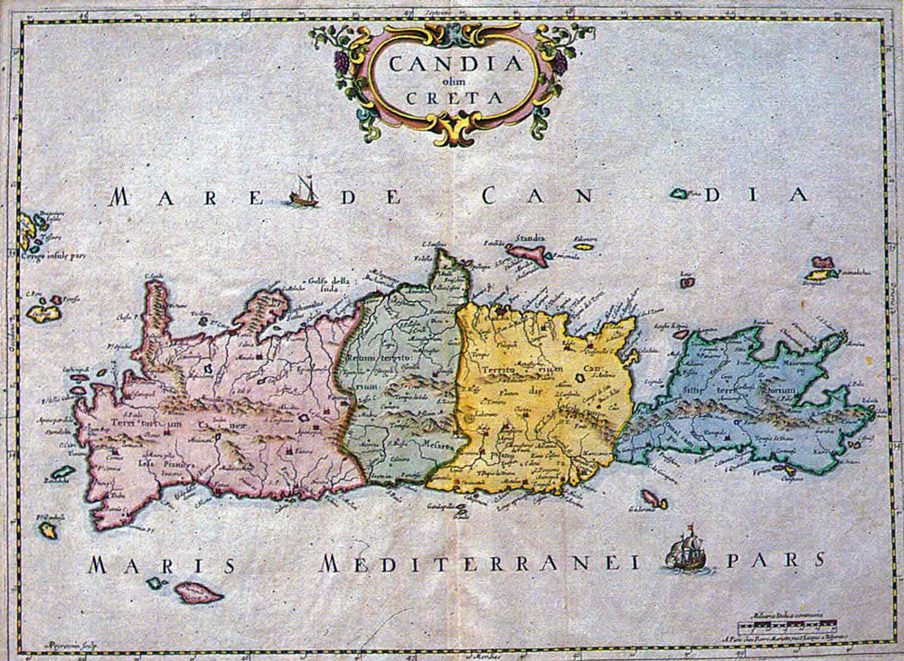 Map of Venetian Crete (17th–18th century?)