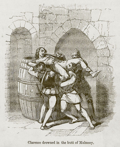 Murdering the Duke of Clarence (19th-century artist's conception)