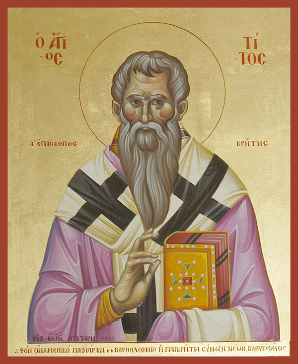 Icon of St. Títos, companion of Paul and first bishop of Crete