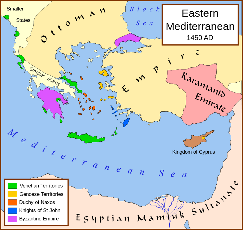 Eastern Mediterranean in 1450