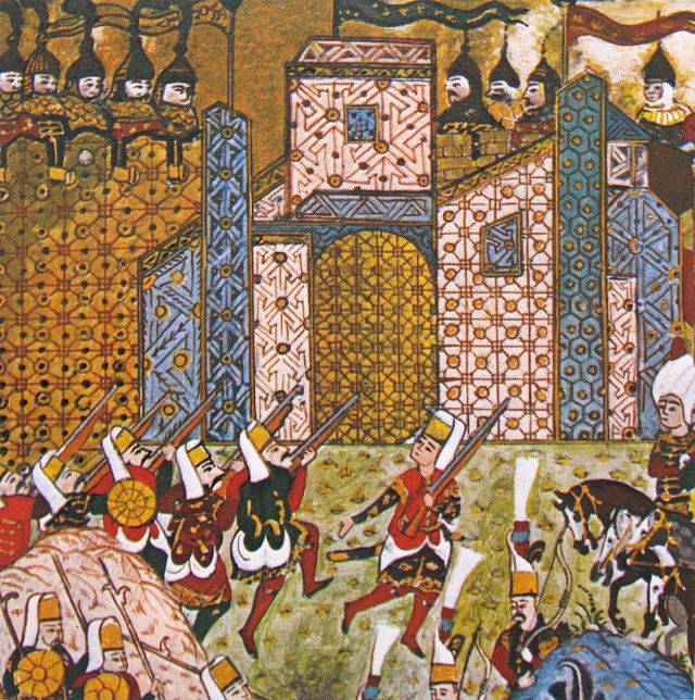 Janissaries attacking the Knights of St. John at Rhodes