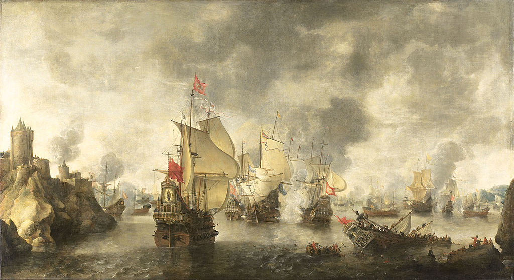 Venetian and Dutch naval victory off the Turkish coast near Smyrna, 1649