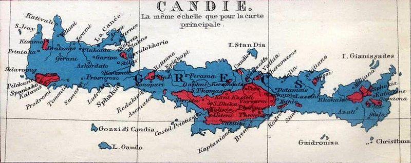 Ethnic/religious populations in Crete, 1861