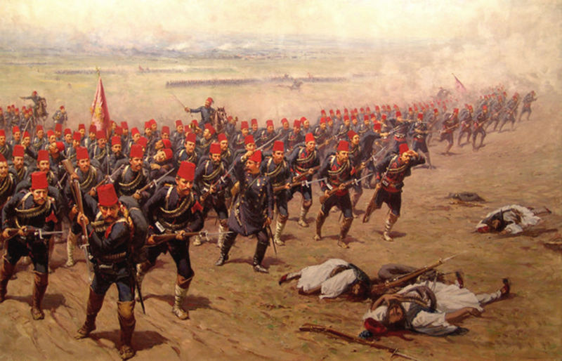 Turkish infantry charge, 1897