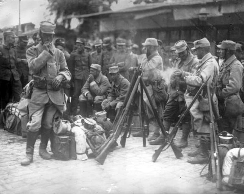 French troops in Salonika, 1915