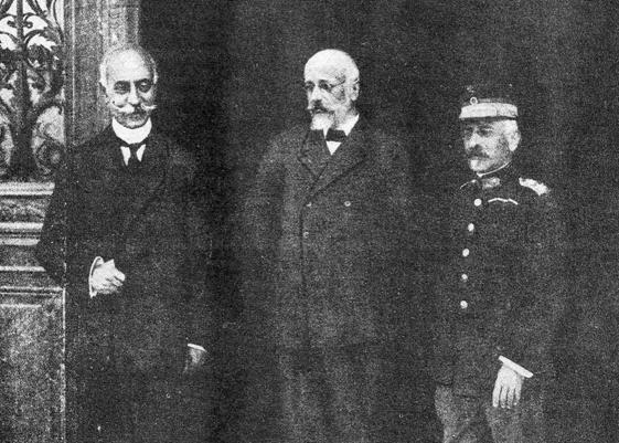 The Triumverate of National Defense: Koundouriótis, Venizélos, and Danglís, 1916