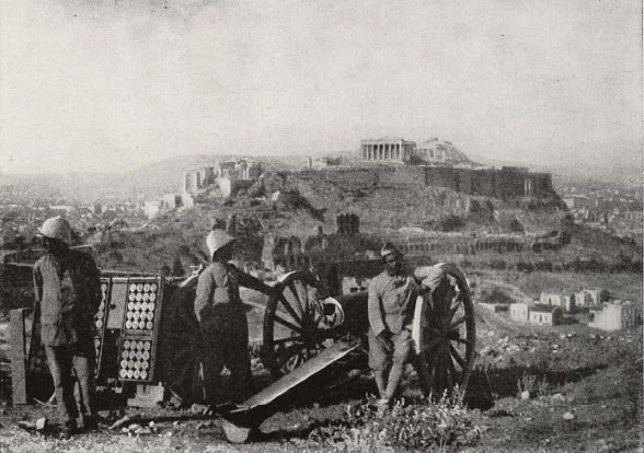 French gunners in Athens at the time of the Noemvrianá,