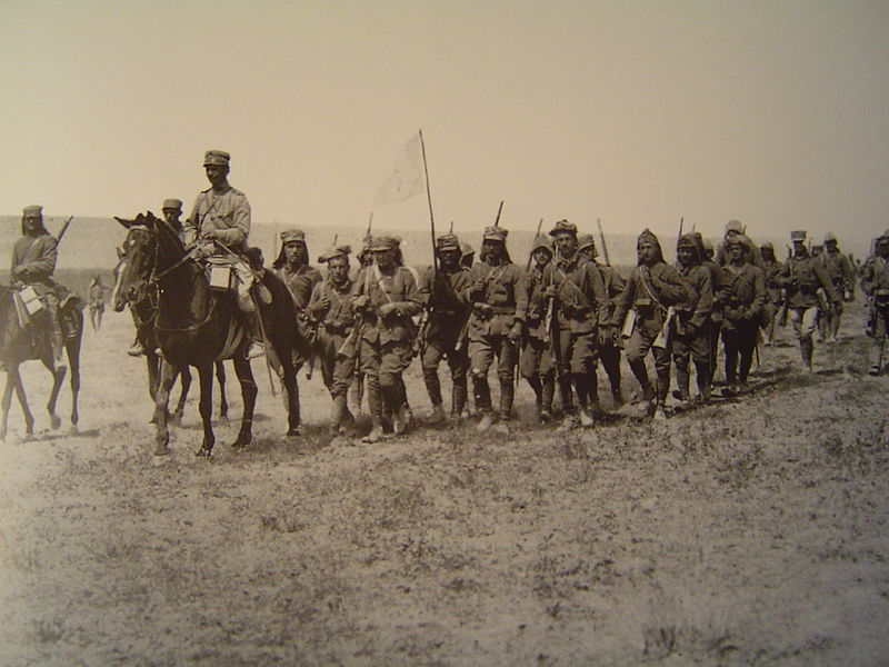 Greek infantry in an Asia Minor desert, August 1921