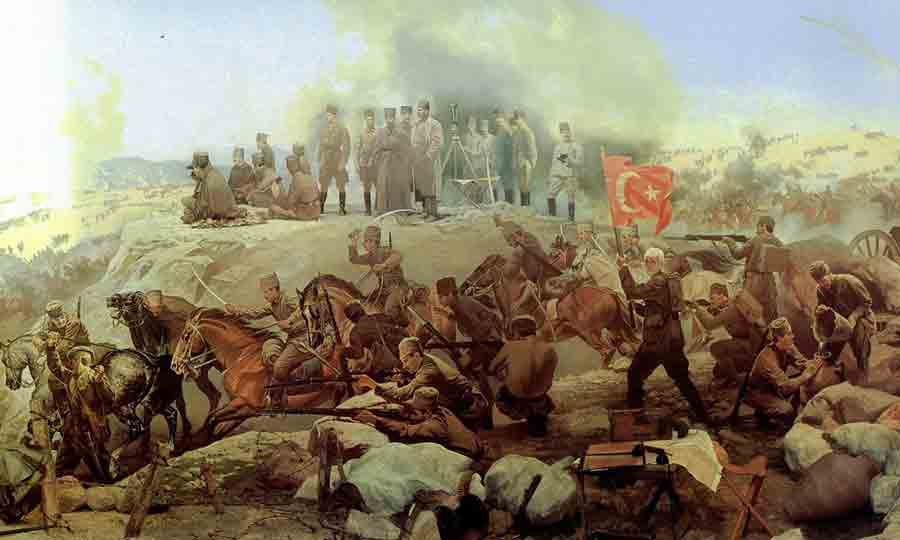 Turkish offensive, August 1922 (from a panorama)