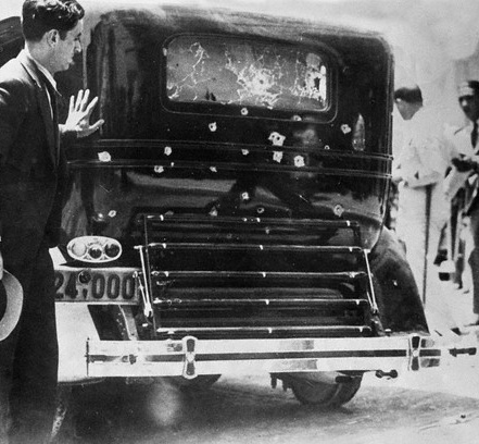 Venizelos' limousine after the attempt