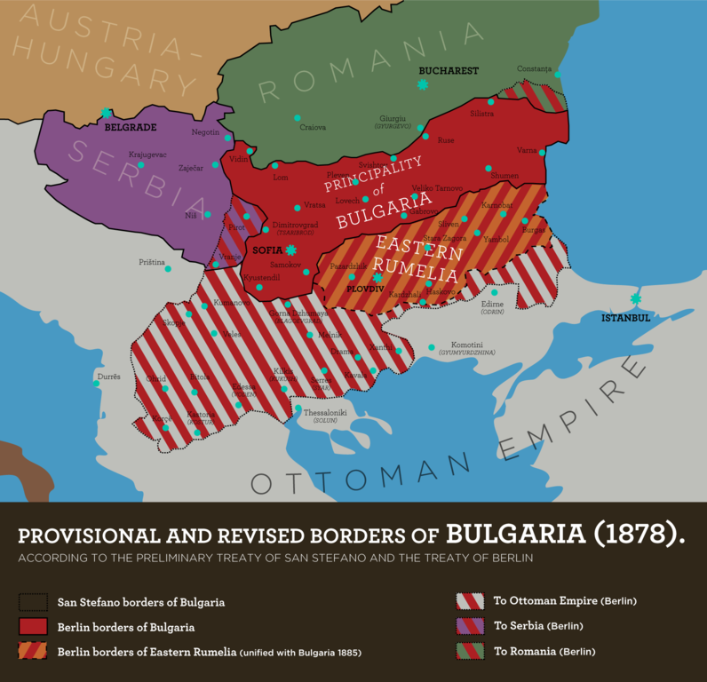 Bulgaria as revised by the Congress of Berlin
