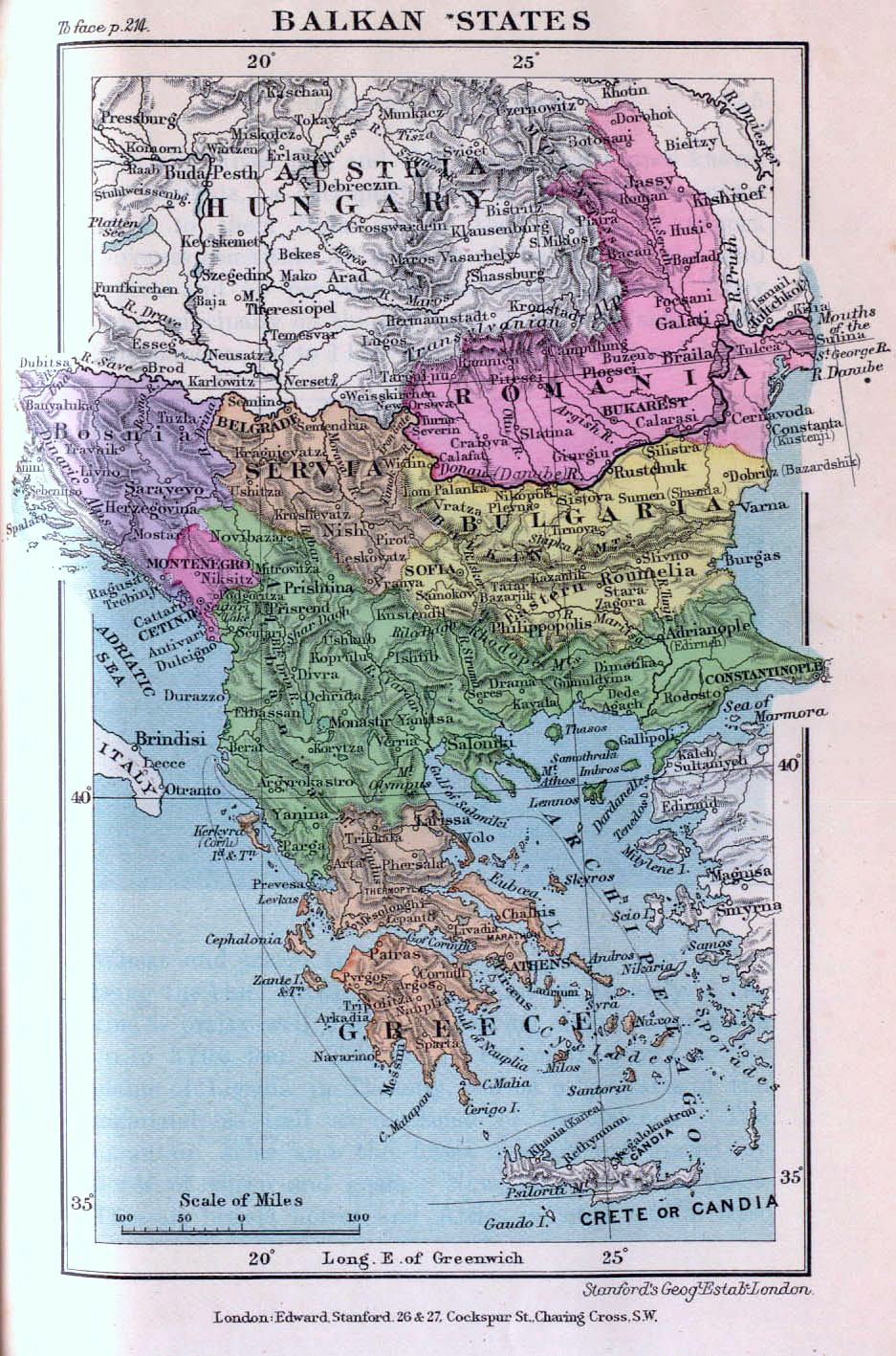 The Balkan states as of 1899