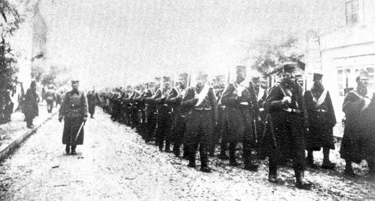 Serbian army entering Skopje (October, 1912)