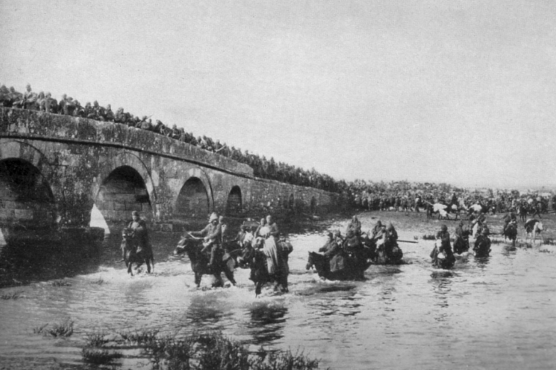 Ottoman troops in retreat from Lule Burgas