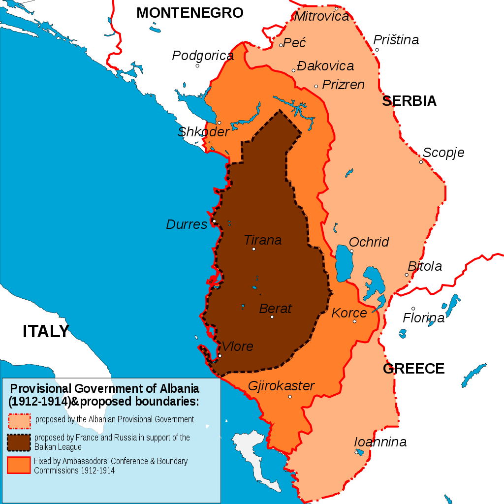 Three proposed Albanias