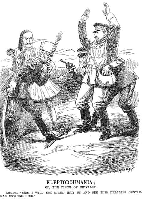 British cartoon on Romanian wickedness