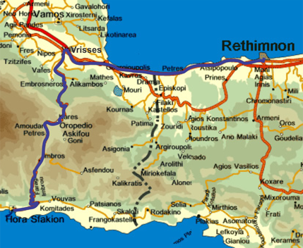 Getting to Réthymno
