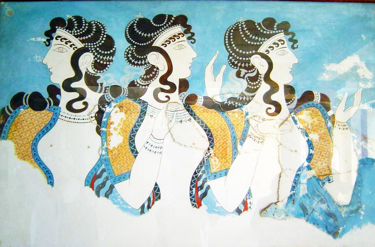 Minoan women, or goddesses, or priestesses