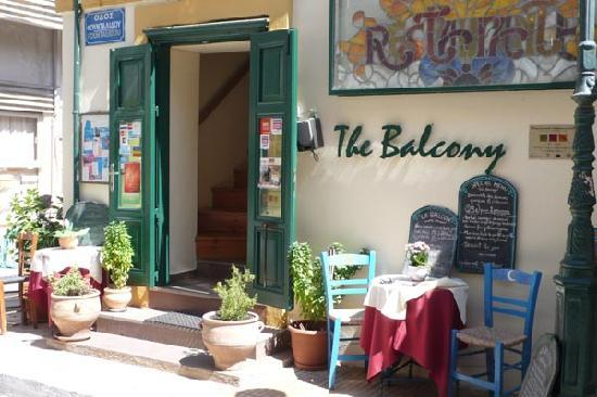The Balcony restaurant entrance