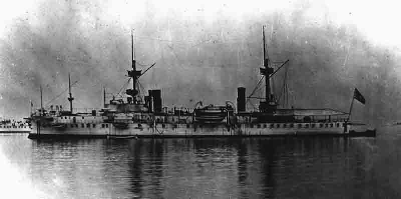 Greek battleship Spétsai, built in 1892