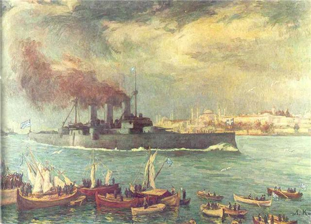 Steaming past Constantinople, 1919