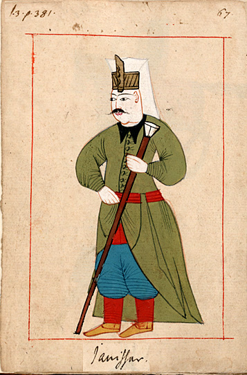 Janissary with staff