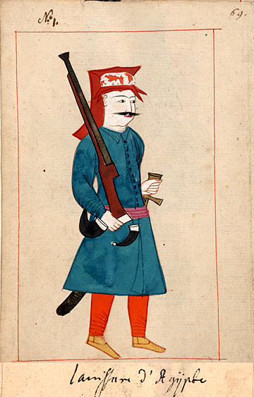 Janissary from regiment in Egypt