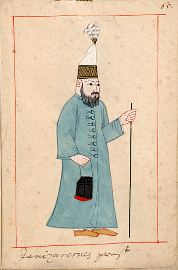 """Janissary """"priest"""" (imam?)"""